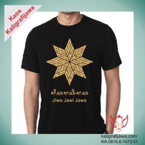 Kaos Aksara Jawa gambar Bintang 8 tulisan JAWA